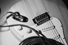 Electric Guitar Closeup And In...