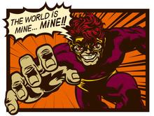Vintage Comic Book Sinister Su...