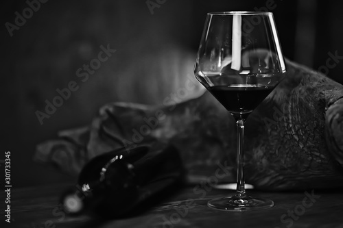 Deurstickers Alcohol concept alcohol glass / beautiful glass, wine restaurant tasting aged wine