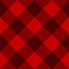 Red Tartan Check Plaid Seamles...