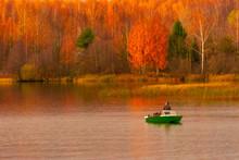 Fishermens On Volga River Near...