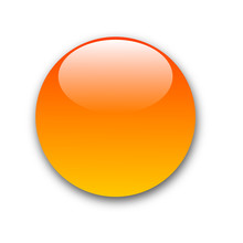 Orange Button With Reflection