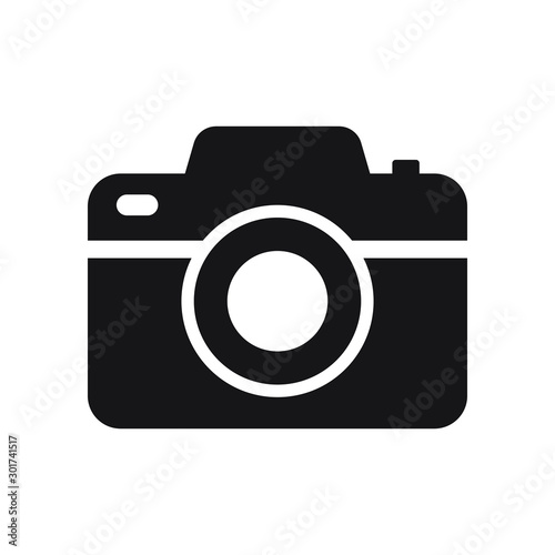 Obraz Photo camera vector icon isolated - fototapety do salonu