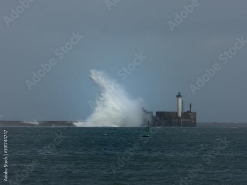 Fotografia tempête phare boulogne sur mer