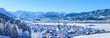 Leinwanddruck Bild - herrlicher Sonnenschein im frisch verschneiten Allgäu
