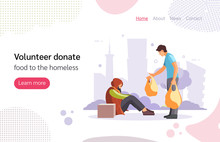 Volunteer People Doing Charity Activities Vector Illustration