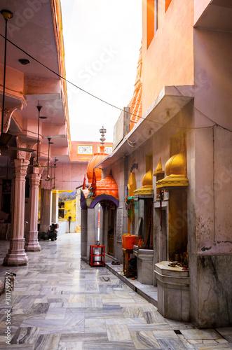 Traditional street in Amritsar, Punjab, India Canvas Print
