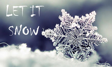 Let It Snow Winter Background