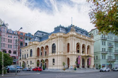 Fotografie, Obraz Theater in Karlovy Vary (Karlsbad) - Czech Republic