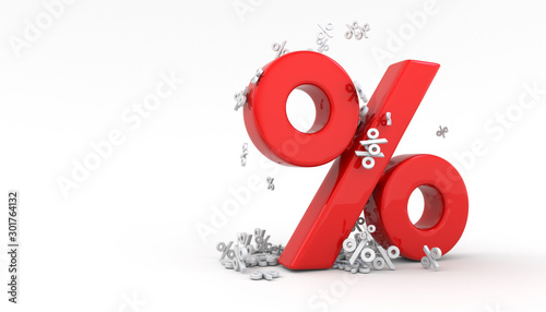 Seasonal sales background with percent discount pattern. 3D Tapéta, Fotótapéta