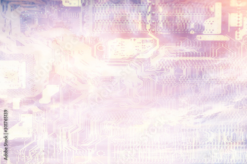 Fototapeta  abstract microelectronics background / modern technology concept industry backgr