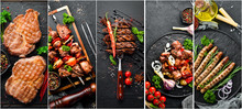 Barbecue, Meat Dishes: Steak, ...