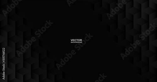 Obraz Abstract. geometric shape black background. light and shadow. Vector. - fototapety do salonu