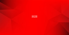 Abstract .Modern Background. Red Polygon Background. Vector.