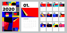2020 New Year Calendar Design ...