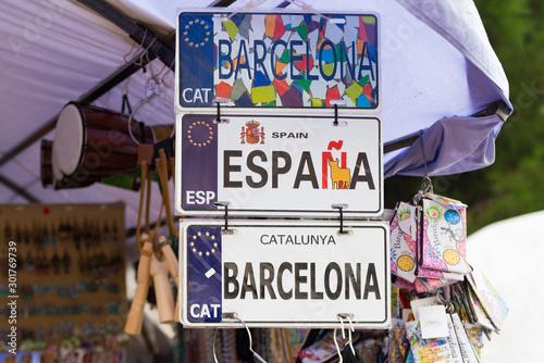 Vászonkép  barcelona souvenirs