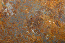 Rusty Metal Background Closeup.