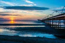 Sunset At Southport, Merseysid...
