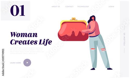 Obraz na plátně Women Things Website Landing Page