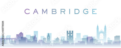 Foto Cambridge Transparent Layers Gradient Landmarks Skyline