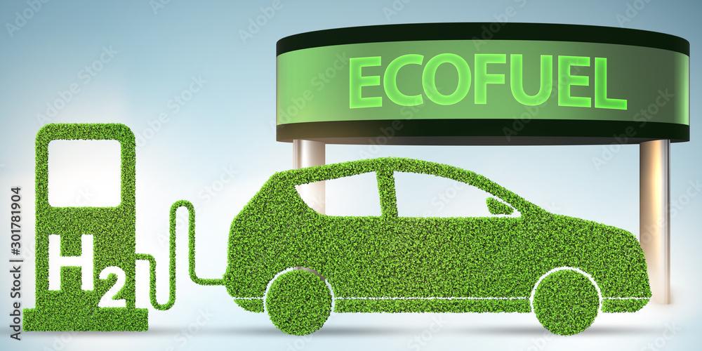 Fototapety, obrazy: Hydrogen car concept - 3d rendering