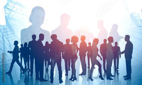 Diverse business people. International partnership