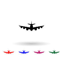 Aircraft Silhouettes Multi Color Icon. Simple Glyph, Flat Vector Of Air Transport Icons For Ui And Ux, Website Or Mobile Application