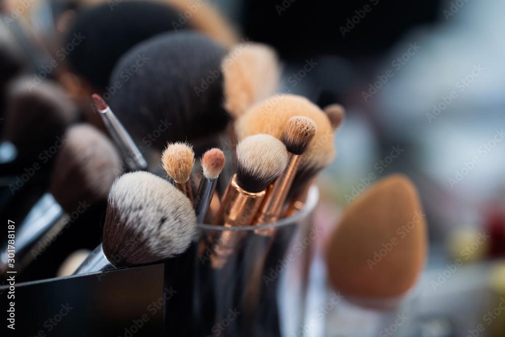 Fototapeta Blush brush in beauty salon