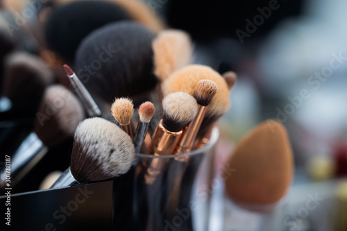 Photo Blush brush in beauty salon