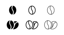 Coffee Bean Icon Isolated On W...