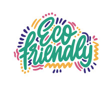 Eco Friendly Icon Design. Ecology Logo On White Background. Vector Illustration.