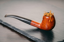 Smoking Pipe With Tobacco