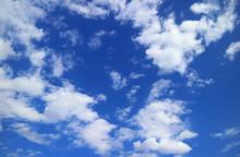 Vivid Blue Sky With White Scat...