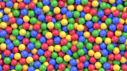 Suhi dječji bazen sa šarenim plastičnim kuglicama
