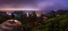 Night Hike In Greek Meteora Mo...