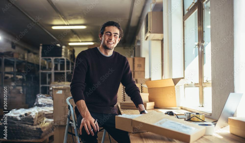 Fototapeta Successful online business owner