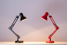 Red And Black Table Lamp
