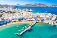 Panoramic View Of Mykonos Town...