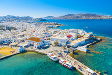 Panoramic View Of Mykonos Town...