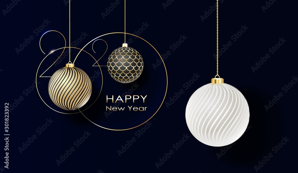 Fototapeta Holidays greeting card with abstract doodle Christmas ball. Vector