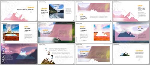 Presentations design, vector templates Fototapet