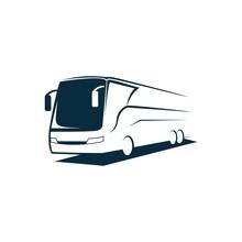 Travel Bus Logo Icon Vector Design Illustration Template
