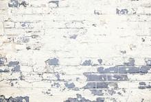 Tinted Gray Brick Wall White P...
