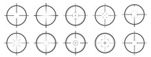 Set Of Vector Aim Icons Isolat...