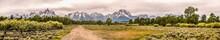 Panoramic View Of Grand Teton ...