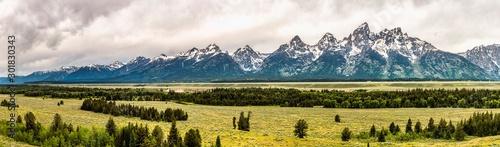 Fotografia Panoramic view of Grand Teton range in Grand Teton National Park