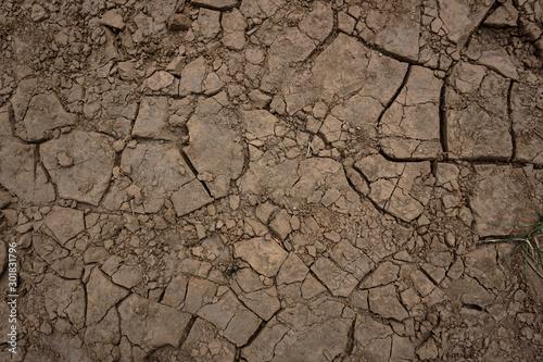 Fotografía  Dry cracked land surface texture