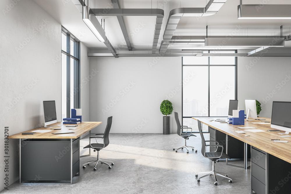 Fototapeta Workspace manager in a modern interior