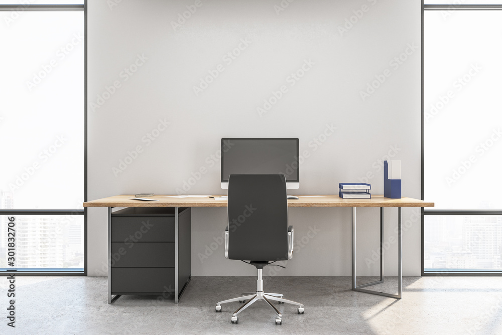 Fototapeta Workspace manager in a contemporary interior