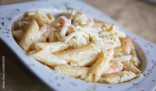Photo Penne Alfredo with Shrimp